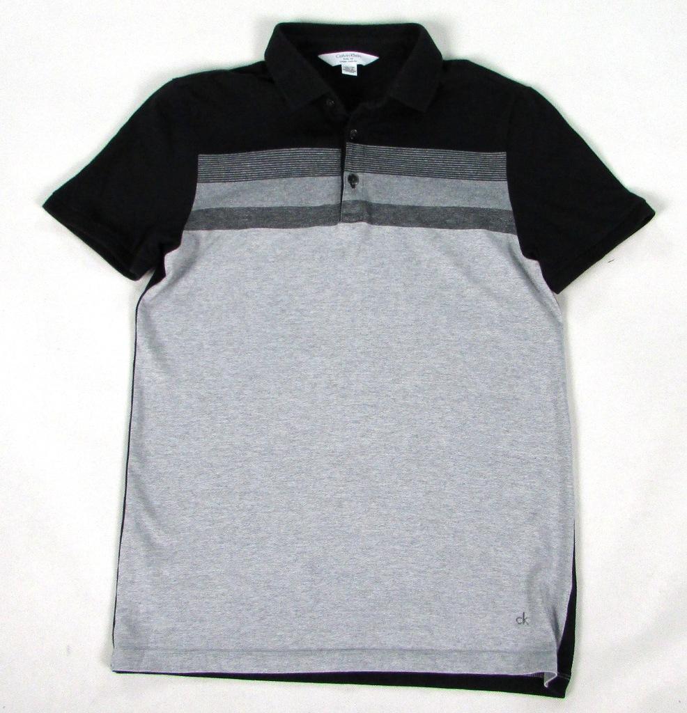 ** CALVIN KLEIN **_XS Body Fit_Modna koszulka polo