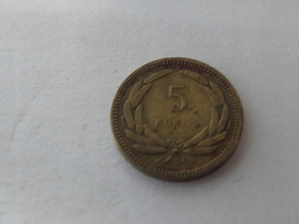 [9009] Turcja 5 kurus 1955 r. st. 3