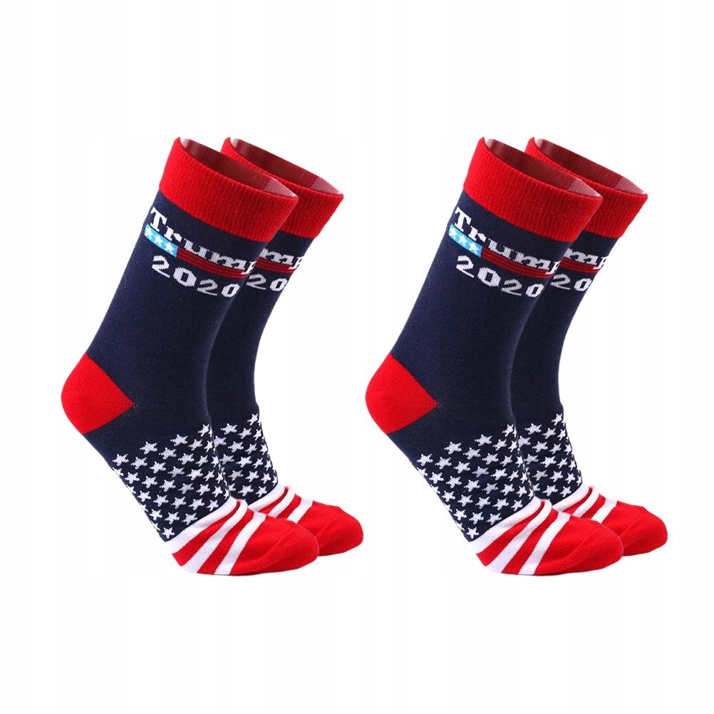 2 pary skarpet 2020 Skarpety w amerykańską flagę W
