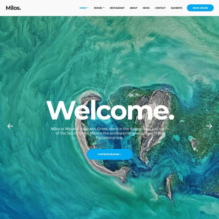 Szablon Milos Hotel WordPress Theme