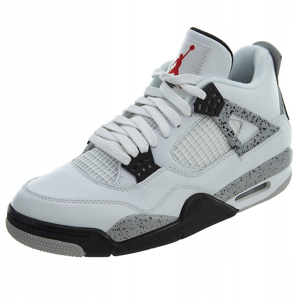 Buty Nike Air Jordan Retro 4 White cement r.45