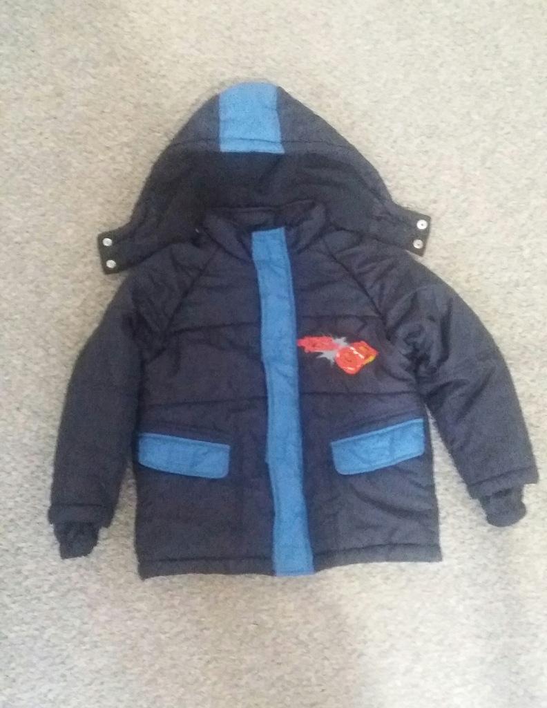 ciepła zimowa kurtka Auta The Cars 116 cm