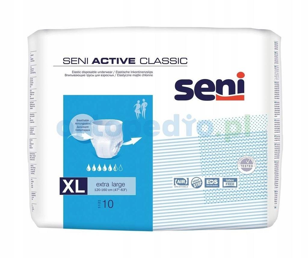 Majtki chłonne pieluchomajtki Seni Active Classic