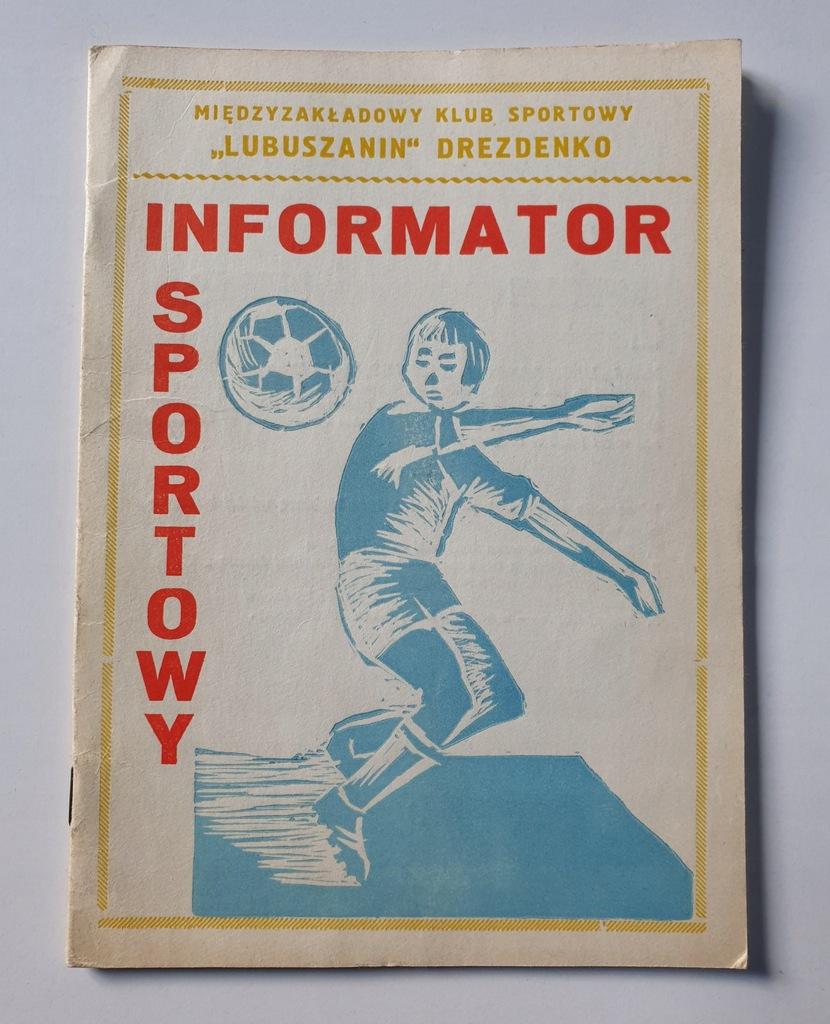 PROGRAM LUBUSZANIN DREZDENKO WIOSNA SEZON 1985