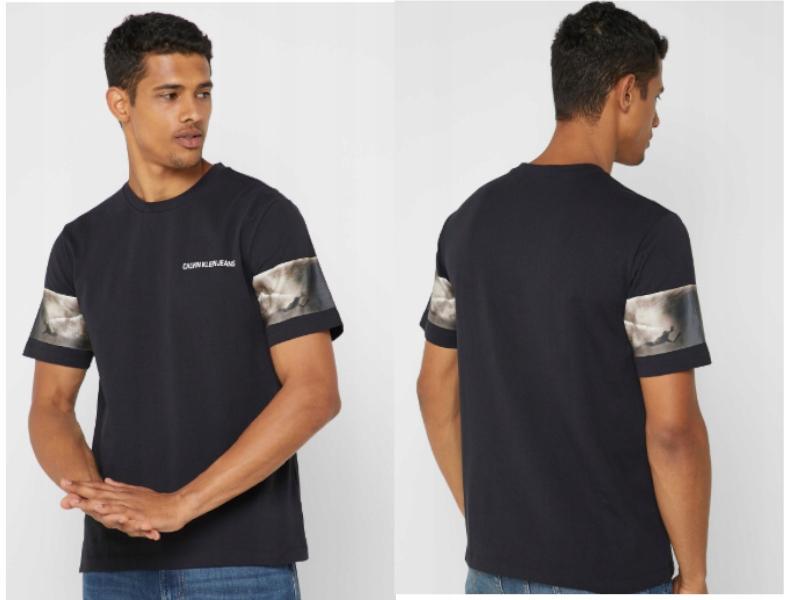 T-shirt męski CALVIN KLEI JEANS Czarna z logo r. M