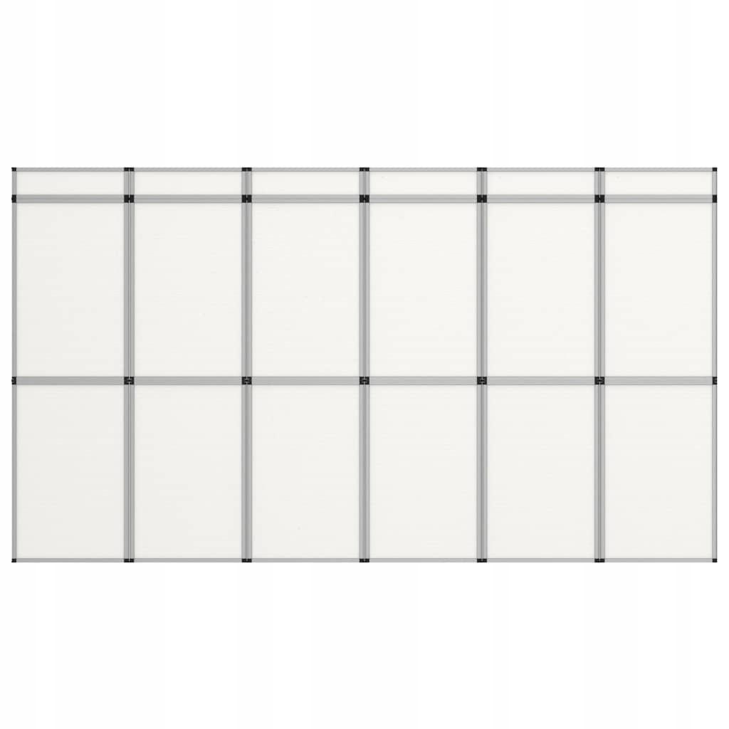18-panelowa, składana ścianka wystawiennicza,