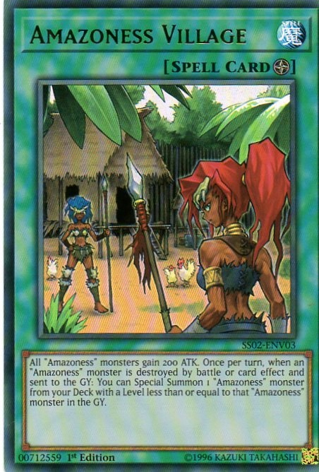 Karta YU-GI-OH -Amazoness Village hologramowa