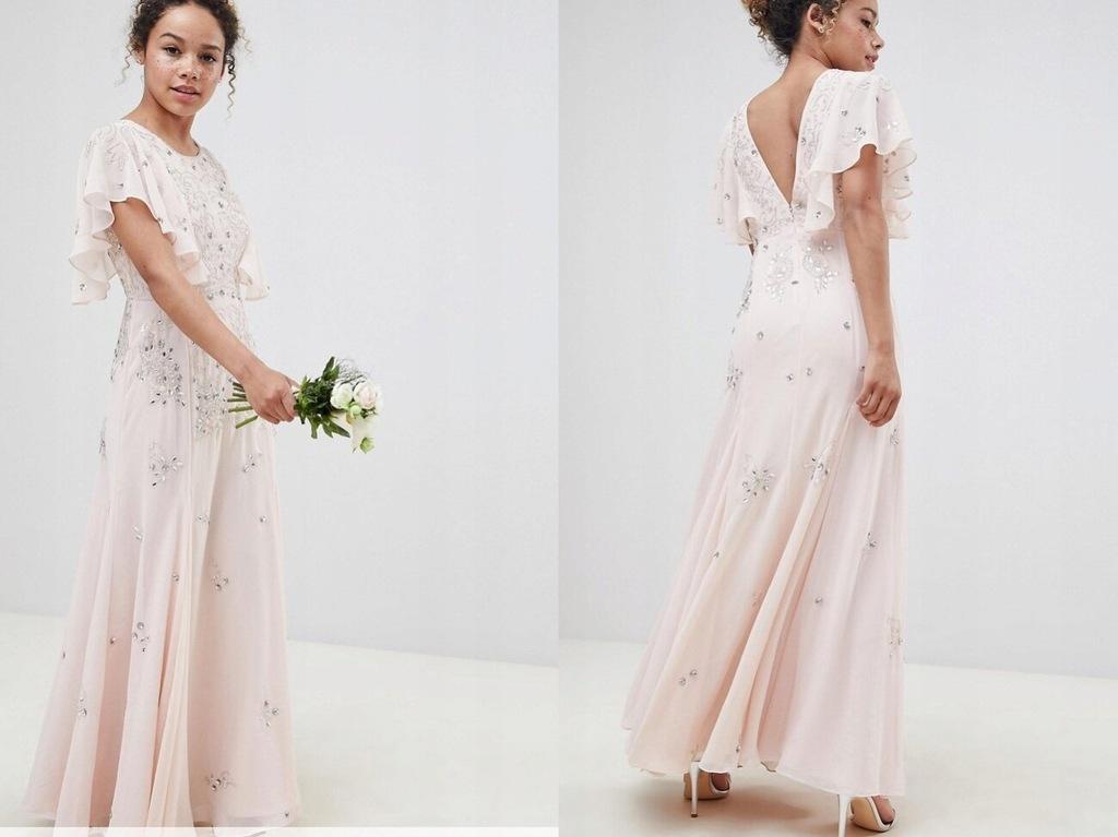 Kwiecista Sukienka z Falującymi Rękawami XXS