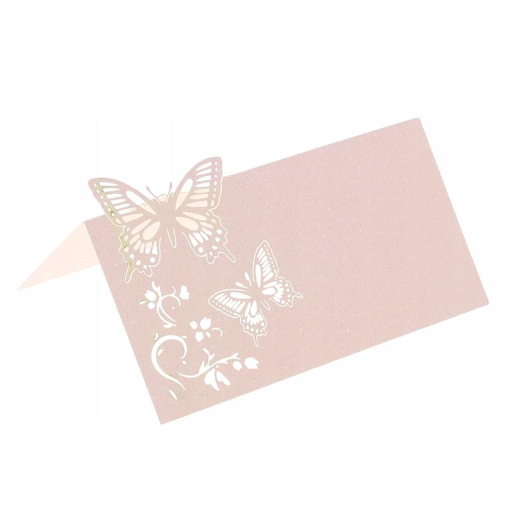 Nazwa stołu weselnego Karty miejsca - Różowy