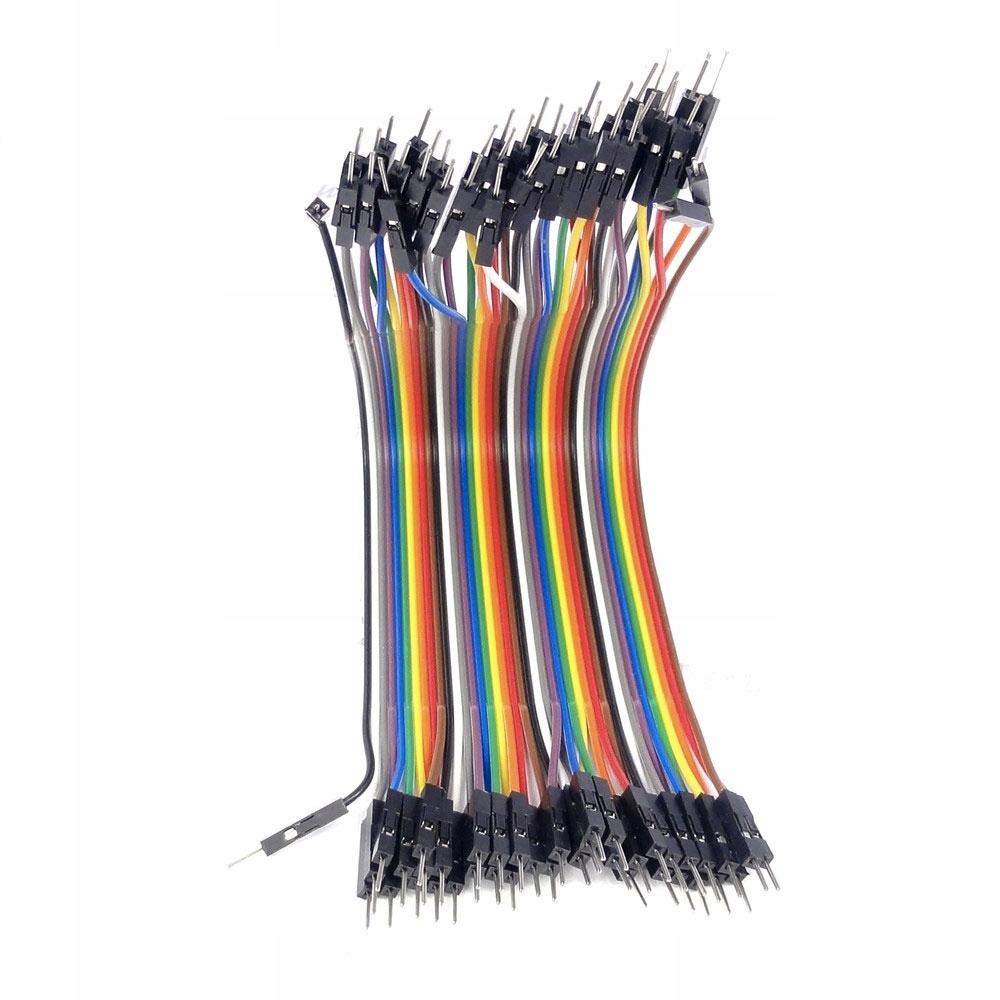 Przewody kable Arduino męsko-męskie 10cm 40 sztuk