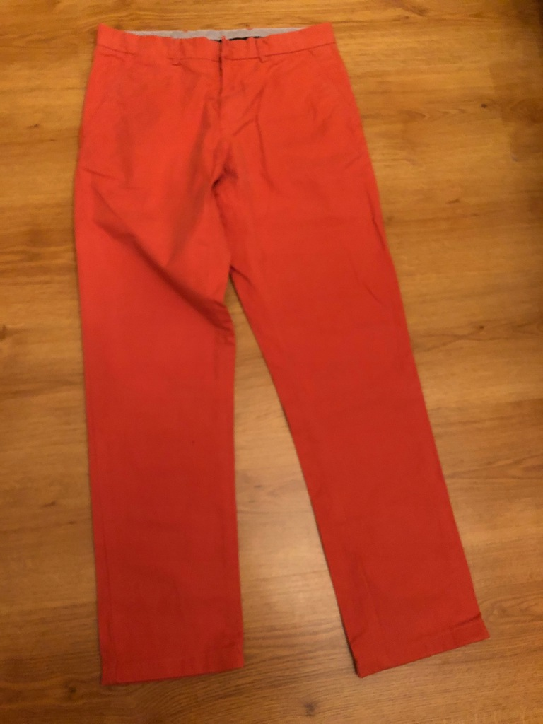 T.Hilfiger pomaranczowe spodnie z bawelny R 30/32