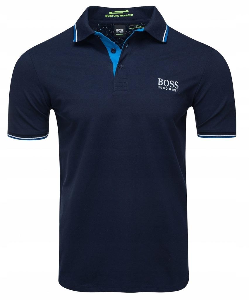 Hugo Boss koszulka polo polówka męska granatowa /M