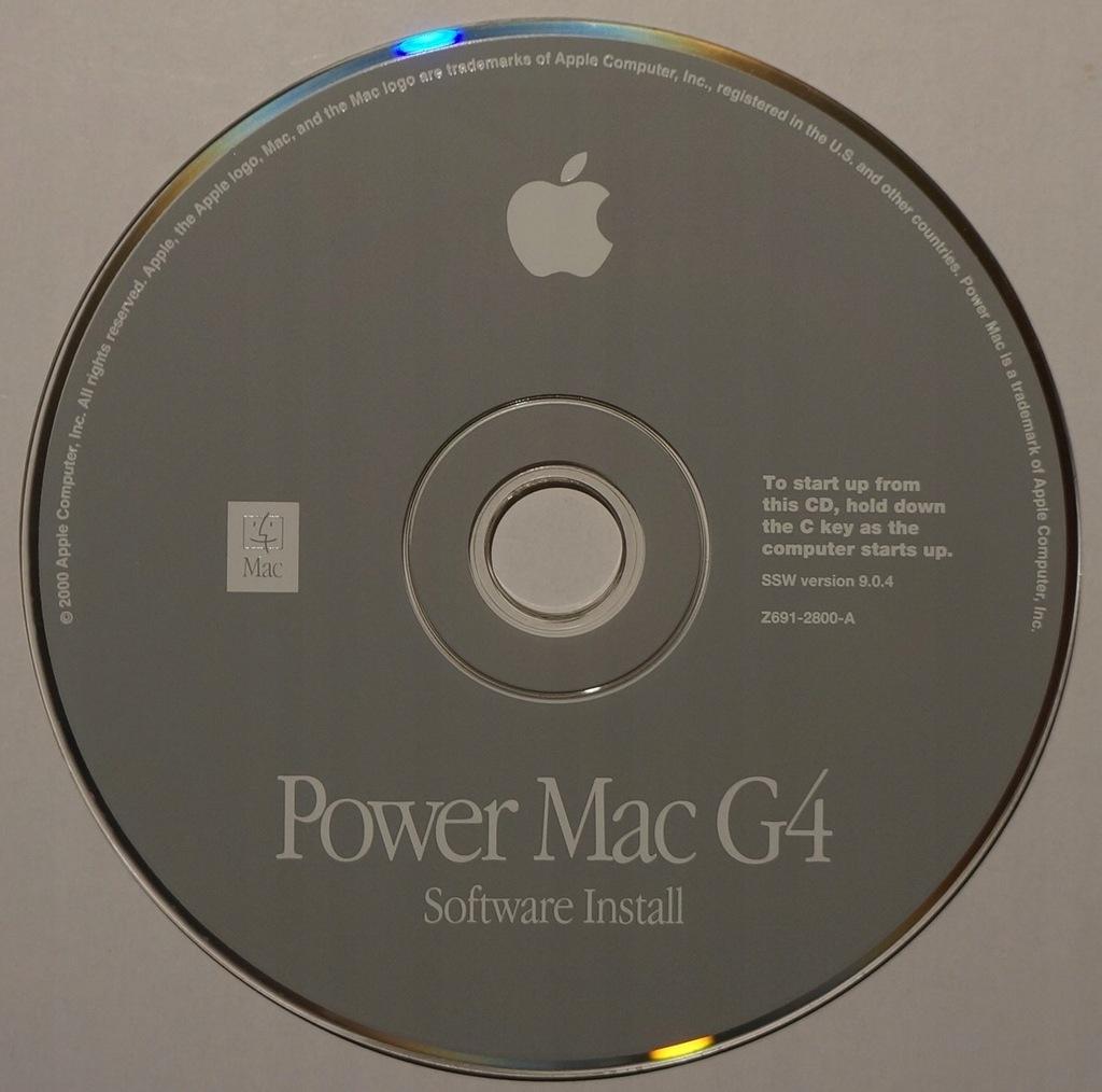 POWER MAC G4 SOFTWARE INSTALL