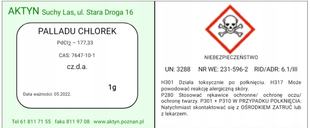 Palladu Chlorek 2g