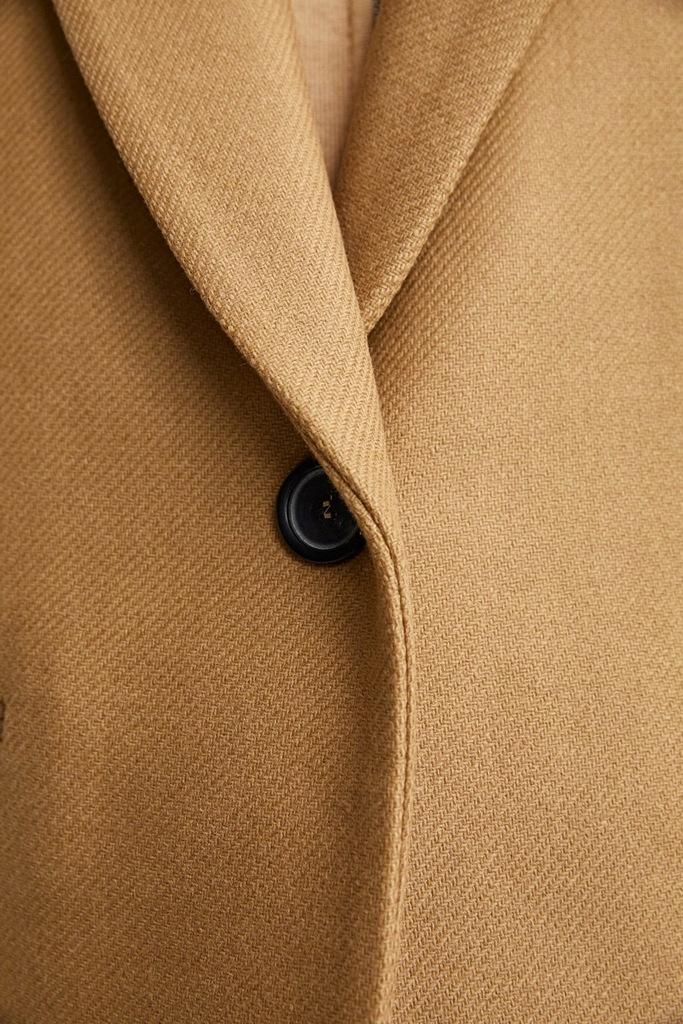 zara płaszcz o męskim kroju camel wełniany 36 S 8273481463