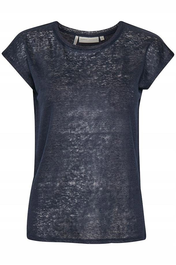InWear Faylinn T-shirt lniany granatowy Rozmiar S