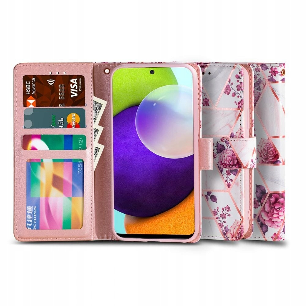 TECH-PROTECT WALLET GALAXY A52 LTE/5G FLORAL ROSE