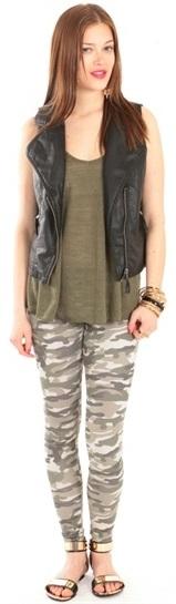 PIMKIE militarne spodnie pink moro jeansy 36 S