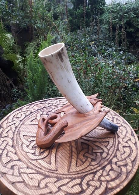 Róg sygnałowy 36 cm Wanaheim niepolerowany