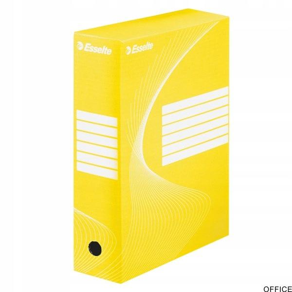 Pudełka archiwizacyjne ESSELTE BOXY 100mm żółte 12