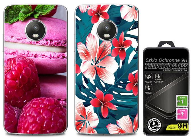 2x Etui Cienki Silikon Foto Do Lenovo Moto G5