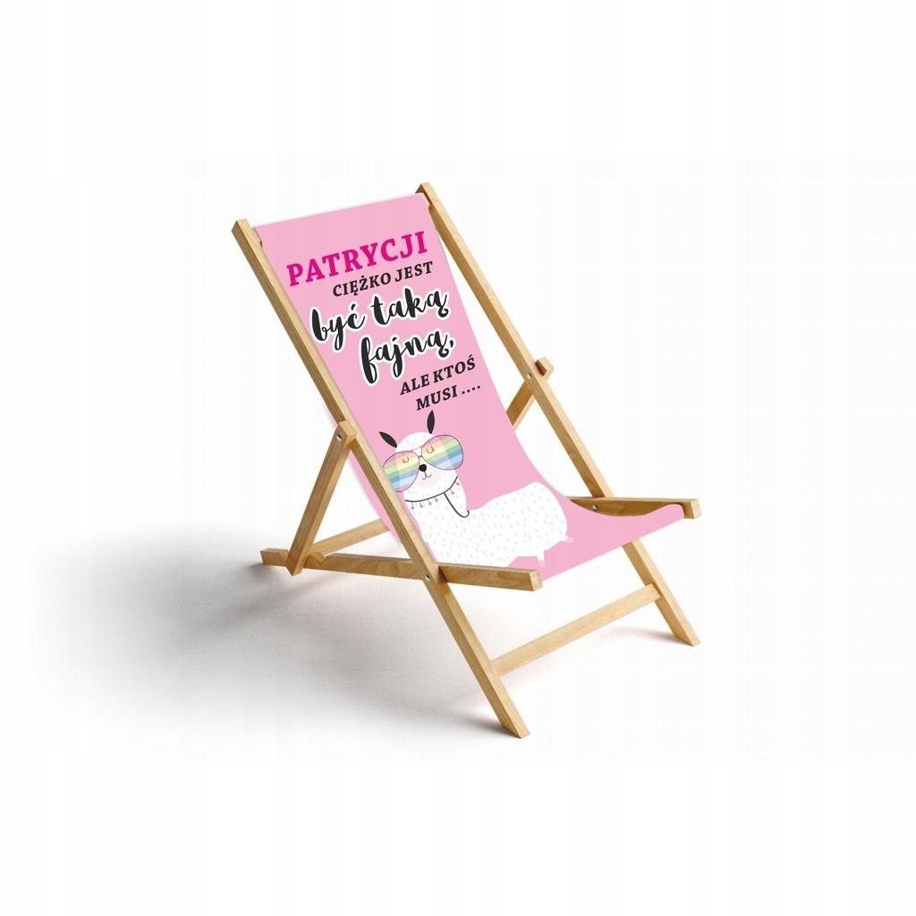 PREZENT Leżak plażowy dla SUPER BABCI