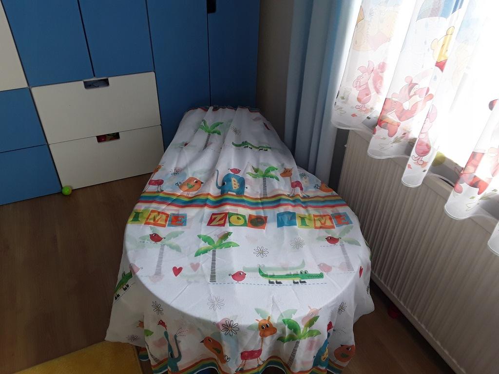 Firanka firana dziecięca zoo gotowa okno 2 m