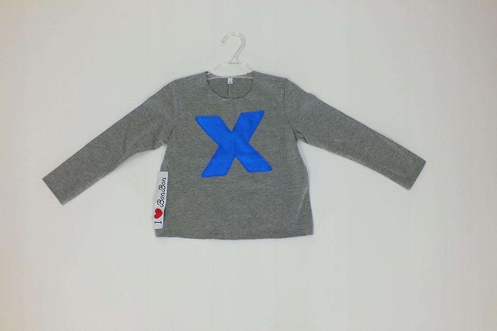 bluzka t-shirt długi rękaw bawełna BONBON 110 A6