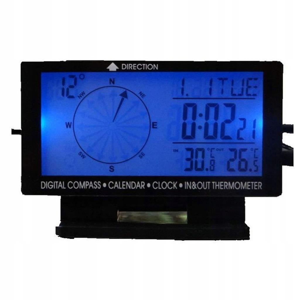 DONGMAO 5w1 cyfrowy termometr samochodowy z niebie