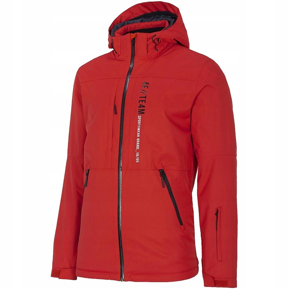 Kurtka narciarska męska 4F ciemna czerwień H4Z20 K