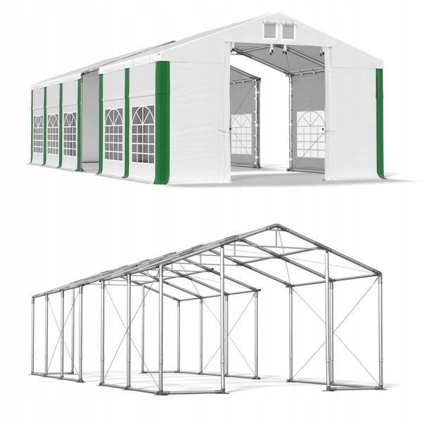 6x17m 2,5-3,6m Namiot ogrodowy linki naciągowe