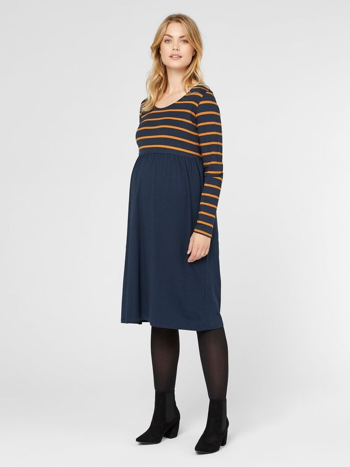 AG D762 MAMA LICIOUS ciążowa sukienka paski L Z01