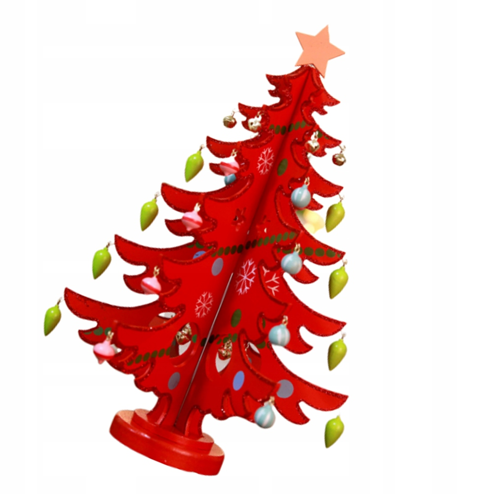 Wooden Red Christmas Tree Wooden Christmas Tree Wi