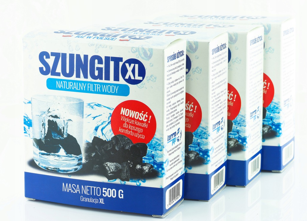 Szungit PROMOCJA 4 x 0,5 kg XL Ręcznie pakowany