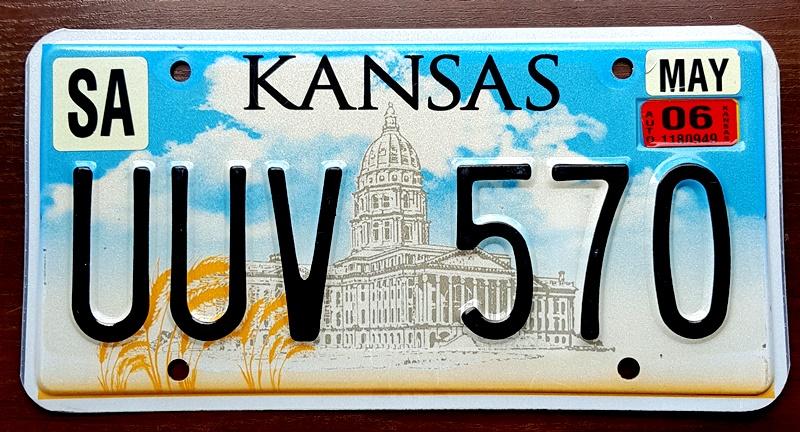 Tablica Rejestracyjna Usa Kansas 2006 8289936349 Oficjalne Archiwum Allegro