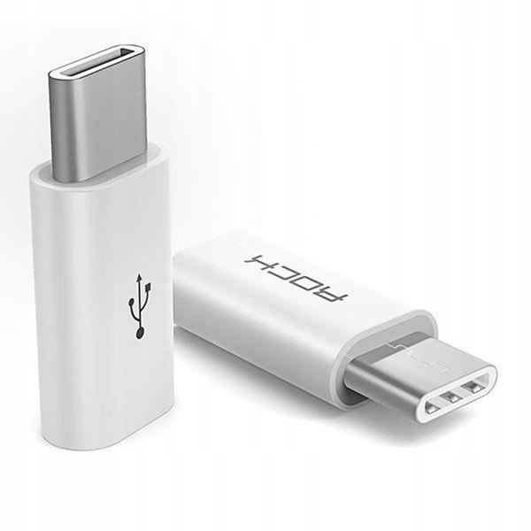 ROCK ADAPTER MICRO-USB TO TYPE-C WHITE