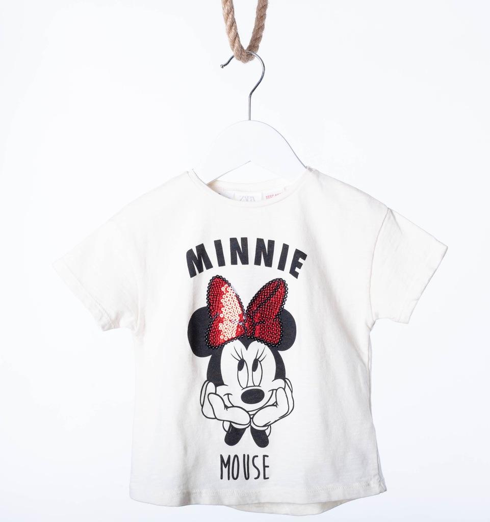 T-shirt Dziewczynka 98 myszka Minnie Mini Zara