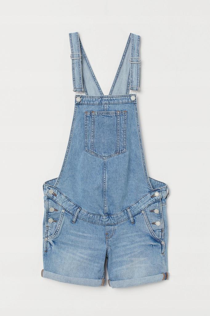 MAMA Szorty ogrodniczki Jeans H&M r.44