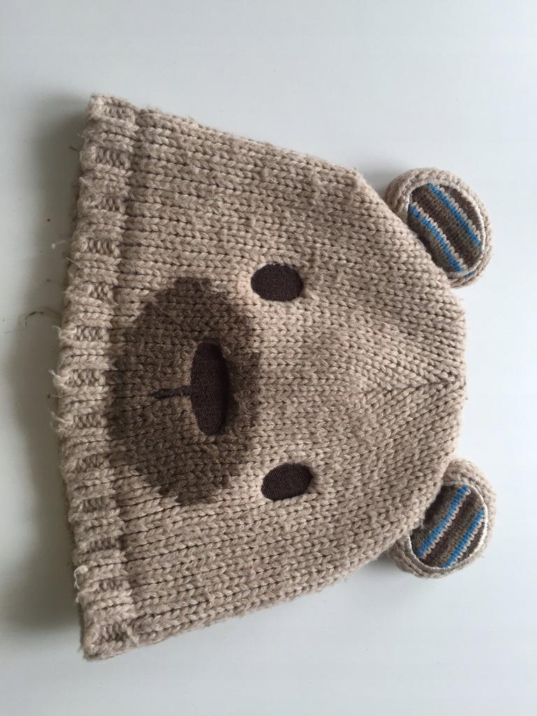 czapka wełniana zimowa GEORGE 12-24mce