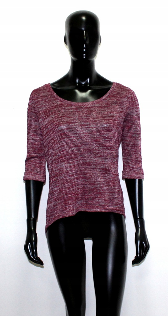 New Look cienki bordowy sweterek basic L 40