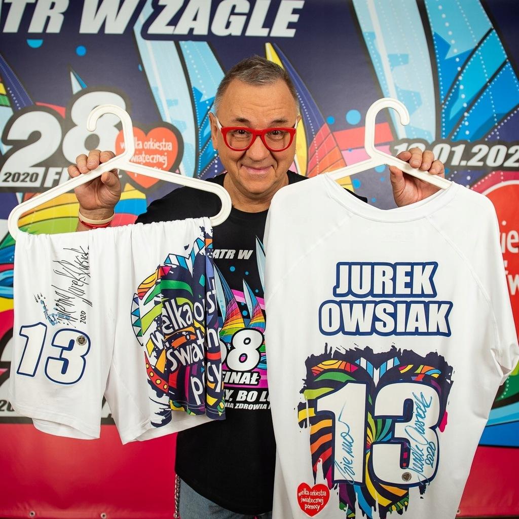 Jurek Owsiak -Strój piłkarski z meczu TVN vs. WOŚP