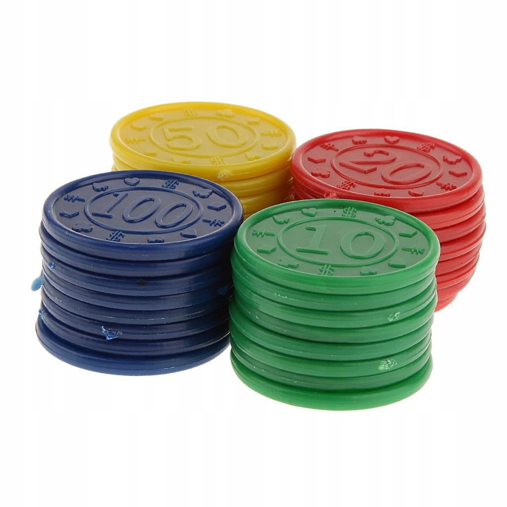 Plastikowe żetony do pokera