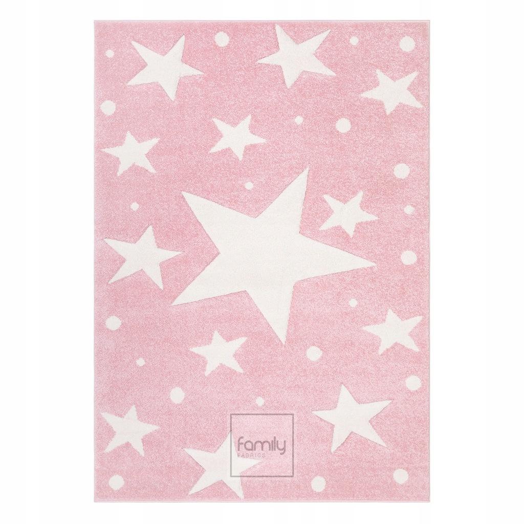 Dywan dziecięcy 120x170 różowe Gwiazdki Art.506 3D