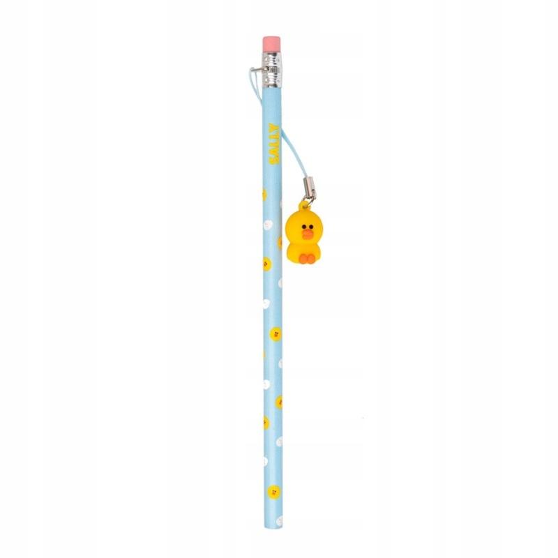 LINE FRIENDS Ołówek z gumką z figurką 3D Sally