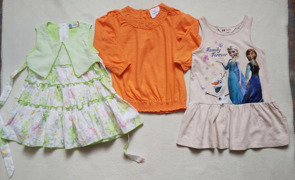 Sukieneczki, bluzeczka r.92--98cm 18m/2latka