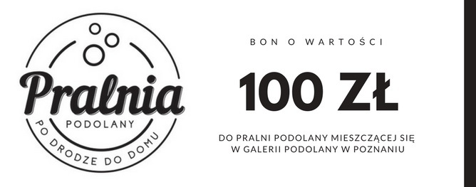 Bon o wartości 100 zł do Pralni Podolany