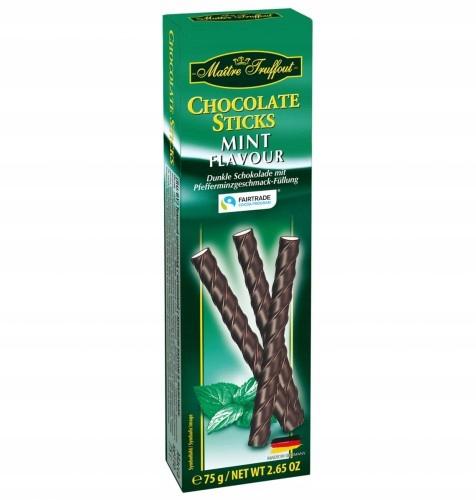 Pałeczki miętowe w ciemnej czekoladzie 75 g