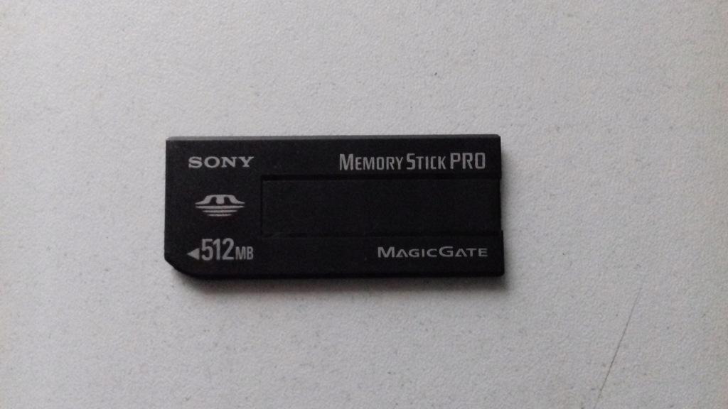 Karta pamięci Sony Memory Stick PRO 512MB Japan