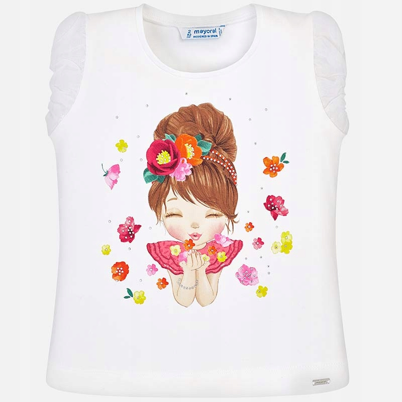 Koszulka z krótkim rękawem z wróżką roz. 110 MAYOR