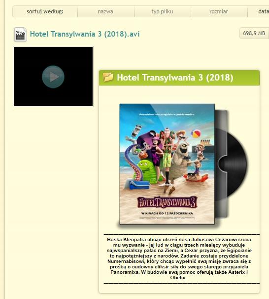 Chomikuj Pl Szablon Html Opis Filmow 7756310453 Oficjalne Archiwum Allegro